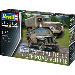Model do sklejania Revell M34 Tactical Truck Off-Road Vehicle