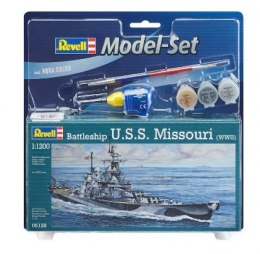 Model do sklejania Revell Battleship U.S.S. Missouri(WWII) klej farby