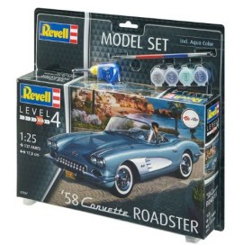 Model do sklejania Revell Corvette Roadster 58 farby klej