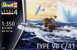Model do sklejania Revell German Submarine Type VII C/41