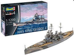 Model do sklejania Revell HMS King George V farby klej