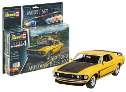 Model do sklejania Revell Ford Mustang Boss 302 1969 farby klej